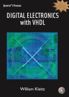 Cover image for Digital electronics with VHDL, Quartus II version