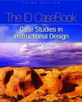 Cover image for The ID casebook : case studies in instructional design