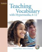 Cover image for Teaching vocabulary with hypermedia, 6-12