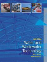Cover image for Water and wastewater technology
