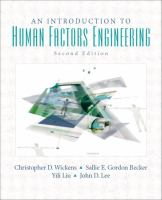 Cover image for An introduction to human factors engineering