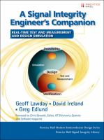 Cover image for A signal integrity engineer's companion : real-time test and measurement and design simulation