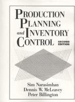 Cover image for Production planning and inventory control
