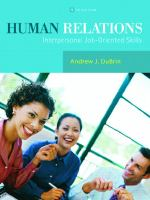 Cover image for Human relations : interpersonal job-oriented skills