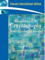 Cover image for Introduction to cryptography : with coding theory