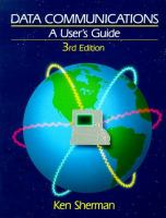 Cover image for Data communications : a user's guide
