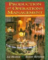 Cover image for Production and operations management : strategic and tactical decisions
