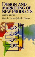 Cover image for Design and marketing of new products