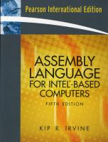 Cover image for Assembly language for Intel-based computers