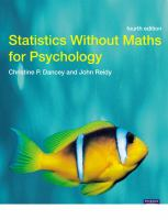 Cover image for Statistics without maths for psychology