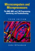 Cover image for Microcomputers/microprocessors : the 8080. 8088 and Z-80 programming, interfacing and troubleshooting
