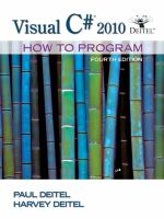 Cover image for Visual C# 2010 : how to program