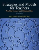 Cover image for Strategies and models for teachers : teaching content and thinking skills