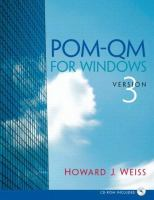 Cover image for POM-QM for Windows, version 3 : software for decision sciences : quantitative methods, management science, production and operations management