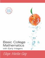 Cover image for Basic college mathematics with early integers
