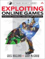 Cover image for Exploiting online games : cheating massively distributed systems