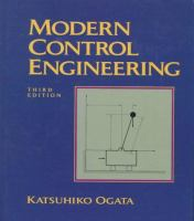 Cover image for Modern control engineering