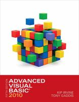 Cover image for Advanced visual basic 2010