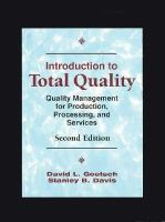 Cover image for Introduction to total quality : quality management for production, processing and services