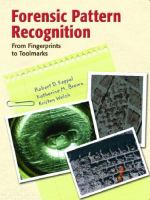 Cover image for Forensic pattern recognition : from fingerprints to toolmarks