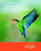 Cover image for Elementary and intermedite algebra for college students