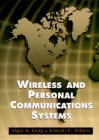 Cover image for Wireless and personal communications systems