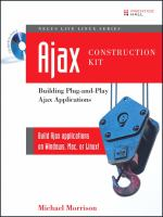 Cover image for Ajax construction kit : building plug-and-play Ajax applications