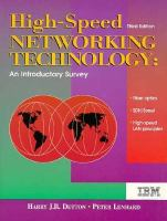 Cover image for High-speed networking technology : an introductory survey
