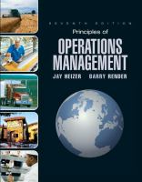 Cover image for Principles of operations management