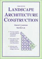 Cover image for Landscape architecture construction