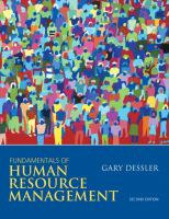 Cover image for Fundamentals of human resource management