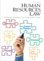 Cover image for Human resources law