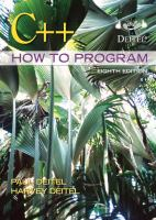 Cover image for C++ : how to program