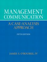 Cover image for Management communication : a case-analysis approach