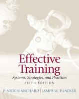 Cover image for Effective training : systems, strategies, and practices