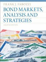 Cover image for Bond markets, analysis, and strategies