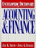 Cover image for Encyclopedic dictionary of accounting and finance