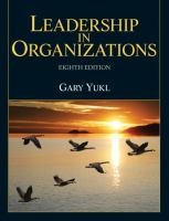 Cover image for Leadership in organizations