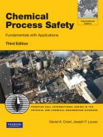 Cover image for Chemical process safety : fundamentals with applications