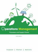 Cover image for Operations management : processes and supply chains