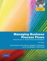 Cover image for Managing business process flows : principles of operations management : International edition