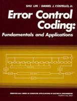 Cover image for Error control coding : fundamentals and applications