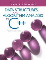 Cover image for Data structures and algorithm analyis in C++
