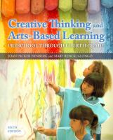 Cover image for Creative thinking and arts-based learning : preschool through fourth grade