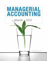 Cover image for Managerial accounting