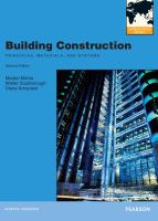 Cover image for Building construction : principles, materials, and systems