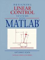 Cover image for Designing linear control systems with MATLAB