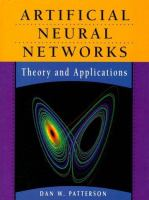 Cover image for Artificial neural networks : theory and applications