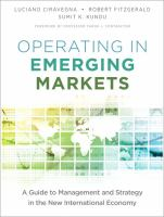 Cover image for Operating in emerging markets : a guide to management and strategy in the new international economy