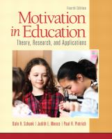 Cover image for Motivation in education : theory, research, and applications